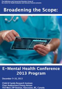 E-mental health 2013